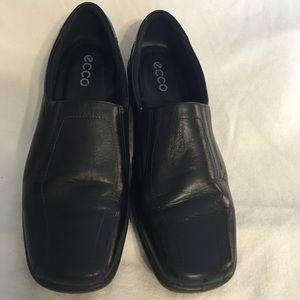 Ecco Lite Slip On Black Comfort Shoes Size 41